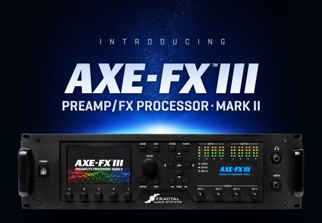 Axe-Fx III Mark II - новый флагман от Fractal Audio